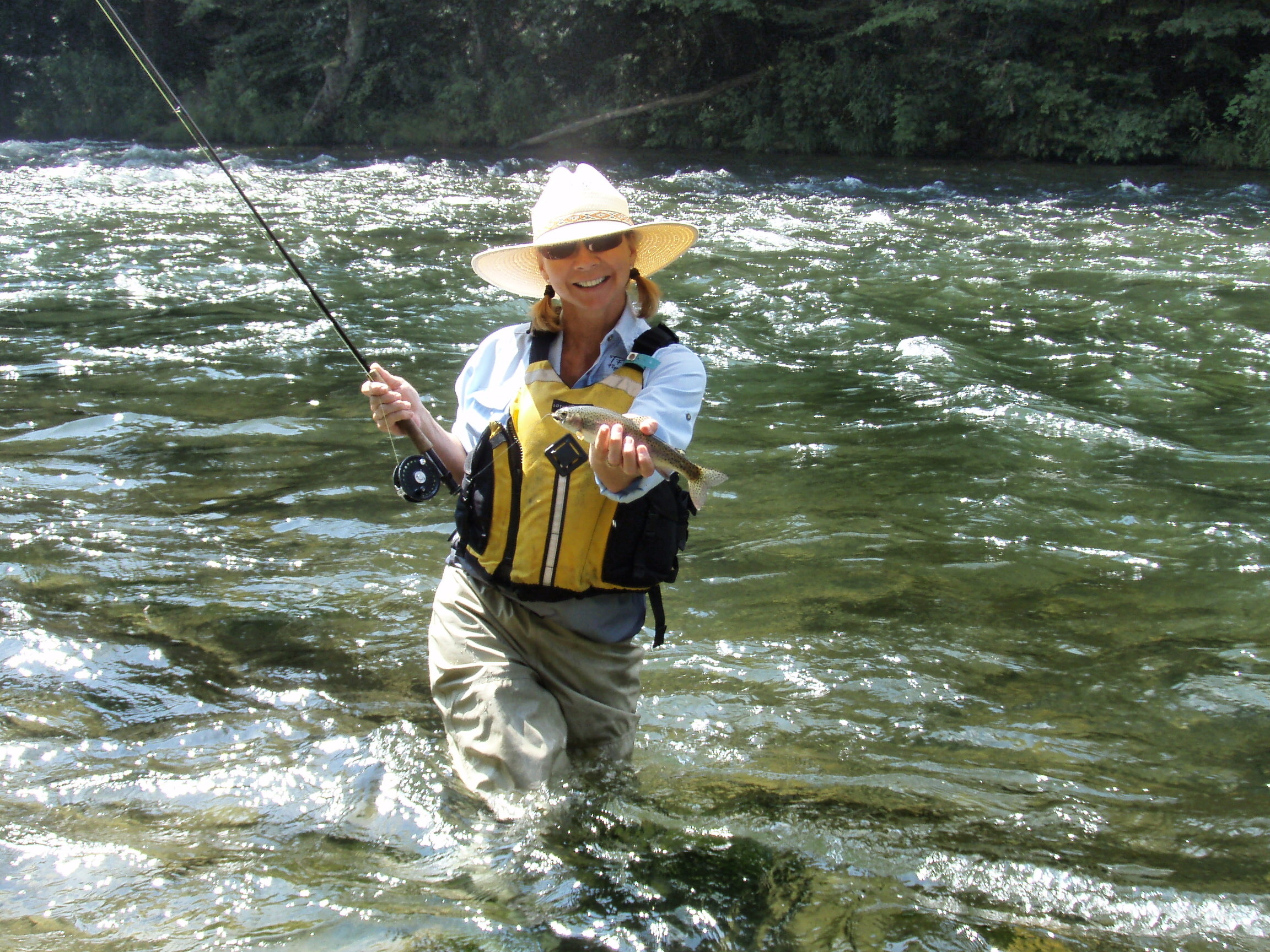 Wnc fly fishing trail in jackson county nc for Fishing lessons near me