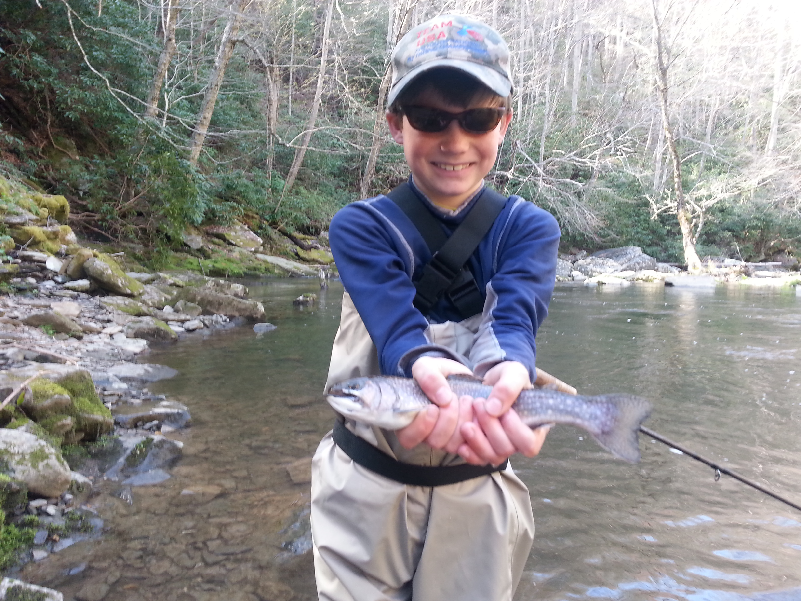 nantahala river fly fishing report for bryson city north