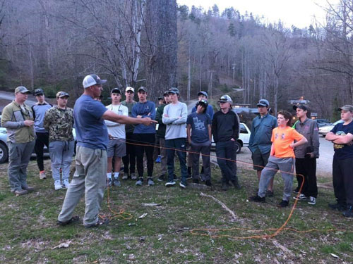 team usa youth fly fishing team casting lesson